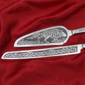 Celtic Wolf Cake Server Set, Nordic, Norse or Viking Wedding