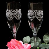 Celtic Knot Champagne Glasses