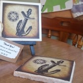 Custom Vintage Nautical Stone or Ceramic Coasters