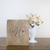 Large Wood Guest Book