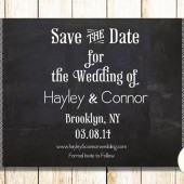 Pulp Sisters Paperie Chalkboard Mosaic Save the Date