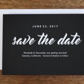 Printable Save the Date Template - Retro Chalkboard