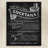Signature Cocktail Sign / Chalkboard / Custom Print