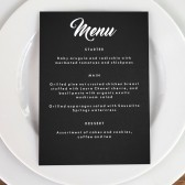 Wedding Menu Template - Retro Chalkboard