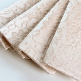 champagne lace and champagne stretch satin amelia clutches