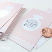 Champagne Pink Bridal Scratch-Off Game