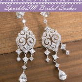 Crystal Rhinestone Wedding Earrings, SparkleSM Bridal, Harper