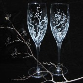 Cherry Blossom Champagne Glasses