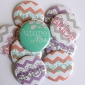 Chevron Bachelorette Buttons