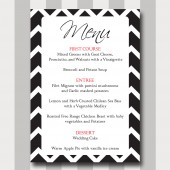 Menu Card Template - Chevron