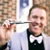 Groomsmen Gift Bottle Opener in Chrome