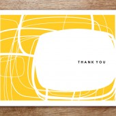 Circles Printable Thank You Card
