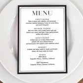 Printable Menu Template - Classic Black and White
