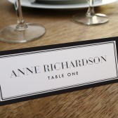 Place Card Template - Classic Black and White