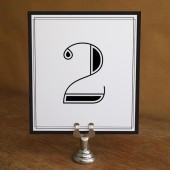 Printable Table Number - Classic Black and White