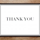 Thank You Card Template - Classic Black and White