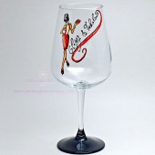 Classy & Fabulous Hand Painted Wine Glass