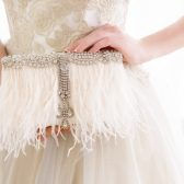 Feather Bridal Clutch
