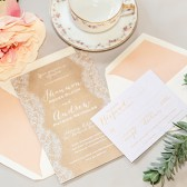 French Lace Invitations