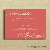 Modern Wedding Typography Save the Dates