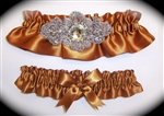 Copper Regal Satin Garter