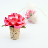 Coral Wine Bottle Stopper Wedding Favors