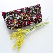 Cosmetic Pouch in Psychedelic Print