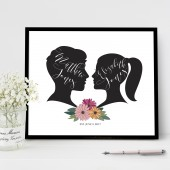 Beautiful silhouette art for your wedding