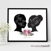 Couples Silhoutte Print - Use your own or choose from selections