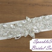 SparkleSM Bridal Sashes - Willow