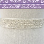 Lexie Crystal Bridal Sash