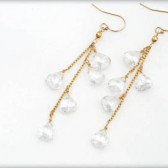 Crystal Dangles Gold