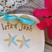 Destination Wedding Ring Bearer Bowl