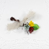 Custom Woodland flower Boutonniere, groom's wedding lapel pin
