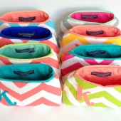 Eight Cosmetic Bags, Create Your Own Bridal Party Set, Custom Favor for Bridesmaids, Wedding Shower, Personalized Gifts, Fall Rainbow