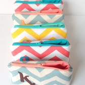 Five Design Your Own Bridal Party Favor Set of Personalized Cosmetic Bags