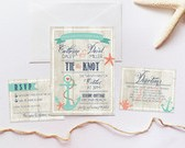 Wedding Invitation Set DEPOSIT, Nautical, Beach, Boho, Anchor, Rustic, Personalized, Printable, Custom, DIY (Wedding Design #1)