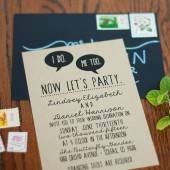 Wedding Invitation Suite I Do, Me Too -Printable, Custom, Quirky, Kraft Paper, Funny, Hipster, Digital (Design #43)