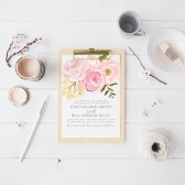 Watercolor Wedding Invitation Suite DEPOSIT - DIY, Floral, Rustic, Boho Chic, Vintage, Country, Invite Kit, Printable (Wedding Design #56)
