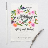Watercolor Boho Wedding Invitation Suite DEPOSIT - DIY, Rustic, Chic, Garden, Calligraphy, Invite Kit, Printable (Wedding Design #73)