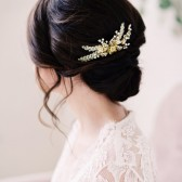 Gold beaded hair comb - style 2005