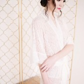 Long Lace Robe - Priscilla