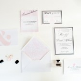 Preppy city Park Avenue modern luxury wedding invitation – Blaire Collection
