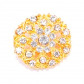 DIAMANTE GOLD BUTTON 704 G