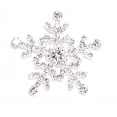 DIAMANTE SNOWFLAKE FLAT BACK 542
