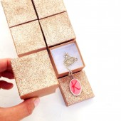 Gold Glitter Favor Gift Boxes