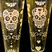 Day of the Dead Pilsner Flutes
