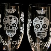 Dead of the Dead Champagne Flutes