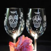 Day of the Dead Wine Glasses
