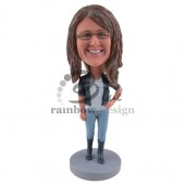Casual Gal Custom Bobblehead